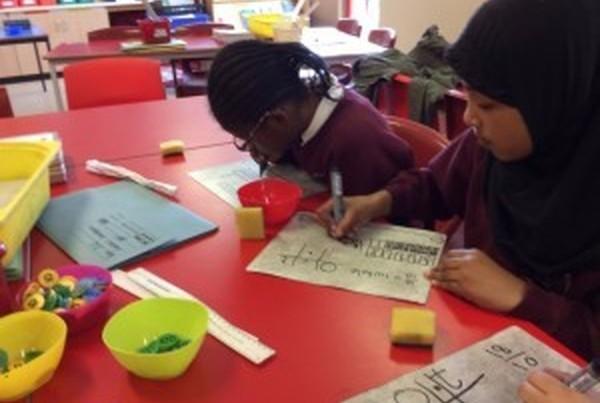 Children doing Maths